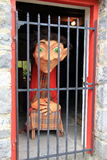 Humorous scene of trapped ogre, Halloween celebration,Bunratty Castle,October,2014 Royalty Free Stock Image