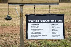 Weather forecasting stone Royalty Free Stock Photography