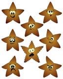 Humorous stars. On a neutral white background Stock Photo