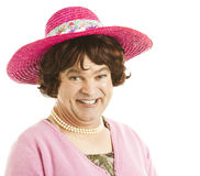 Humorous Tranvestite Stock Images