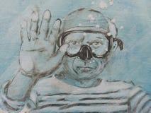 Humorvoller Tribut zu Pablo Picasso Stockfoto