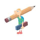 Humorystyczny mały mężczyzna ilustracji