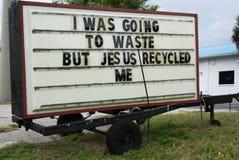 humorystyczny religijny znak obraz stock