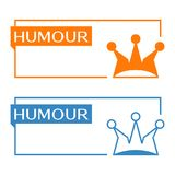 Humour banner with jester hat icon Stock Photography