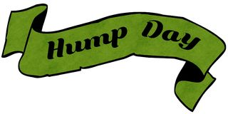 HUMP DAY green ribbon. Royalty Free Stock Images
