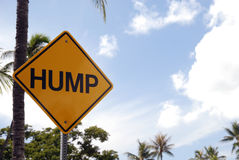 Hump road sign Royalty Free Stock Images