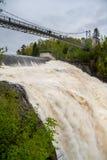 Humpback bridge. At the Montmorency Falls, Quebec (Canada Stock Images