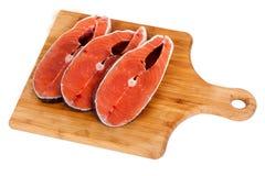 Humpback salmon board Stock Photography
