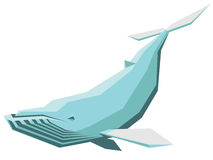 Humpback whale. Vector illustration of a humpback whale Royalty Free Stock Photo