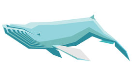 Humpback whale. Vector illustration of a floating humpback whale Stock Images