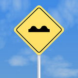 Humped back road sign Stock Photos