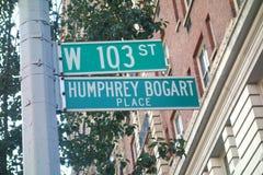 Humphrey Bogart Place Imagen de archivo libre de regalías