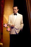 Humphrey Bogart. Wax statue at Madame Tussauds in London stock image