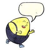 humpty dumpty χαρακτήρας αυγών κινούμενων σχεδίων με τη λεκτική φυσαλίδα Στοκ Φωτογραφία