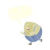 humpty dumpty χαρακτήρας αυγών κινούμενων σχεδίων με τη λεκτική φυσαλίδα Στοκ φωτογραφίες με δικαίωμα ελεύθερης χρήσης