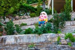 Humpty Dumpty SAT auf einer Wand Humpty Dumpty hatte einen großen Fall Stockfotografie