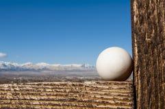 Humpty kijkt over het landschap royalty-vrije stock afbeeldingen