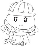 Humpy Dumpy with a scarf coloring page Royalty Free Stock Photography