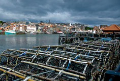 humret blockerar whitby Royaltyfria Bilder