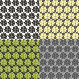 Humulus pattern. Seamless patterns. Minimalism. Color options Stock Images