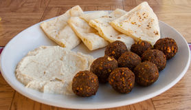Humus and Meat Balls Royalty Free Stock Image