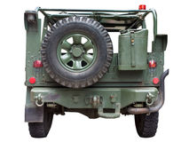 Humvee military truck. Photo from rear side stock photography