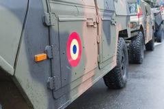 Humvee-Romanian military car. The photo was taken on December 1, 2017, in Romania, Bucharest stock images