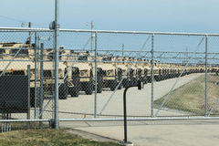 Humvees betriebsbereit zum Krieg stockfotografie