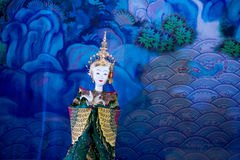 Hun Krabok, fantoche tailandês tradicional imagens de stock royalty free