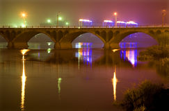 Hun River Bridge at night Stock Photography
