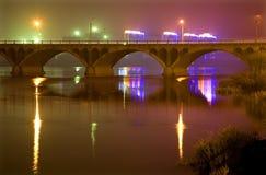 Hun River Bridge at night Stock Photography