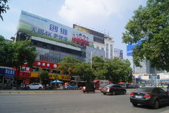 Hunan Huaihua, China: City Road Traffic Royalty Free Stock Photo