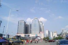 Hunan Huaihua, China: City Road Traffic Stock Images