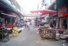 Hunan Huaihua, China: farmers market Royalty Free Stock Images