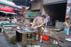 Hunan Huaihua, China: farmers market Stock Images