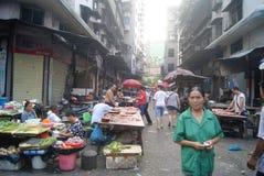 Hunan Huaihua, China: farmers market Stock Image