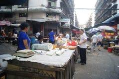 Hunan Huaihua, China: farmers market Royalty Free Stock Image
