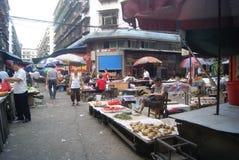 Hunan Huaihua, China: farmers market Royalty Free Stock Photography