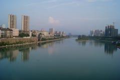 Hunan Huaihua, China: Wushui river scenery Stock Photos