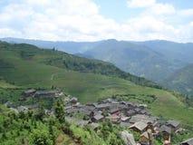 Hunan a terrazze Cina di Longsheng di longji di Wengjia dei giacimenti del riso Immagini Stock Libere da Diritti