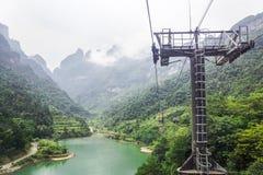 Tianmen Mountain cableway Stock Photos