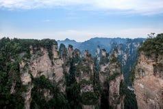 Hunan Zhangjiajie πάρκο εθνικών δρυμός, οι παλαιές σπιτιών αιχμές συλλογής ` τομέων ` μαγικές Στοκ φωτογραφία με δικαίωμα ελεύθερης χρήσης