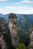 Hunan Zhangjiajie Forest Park national, la vieille magie de ` de champ de maison recueillant le ` fait une pointe Image libre de droits