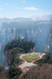 Hunan Zhangjiajie Forest Park national, le vieux champ dans le domaine pastoral Photo libre de droits