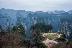 Hunan Zhangjiajie Nationaal Forest Park, het oude gebied op het pastorale gebied Stock Foto
