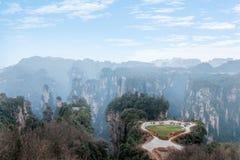 Hunan Zhangjiajie Nationaal Forest Park, het oude gebied op het pastorale gebied Royalty-vrije Stock Afbeeldingen