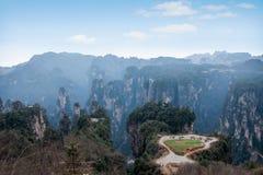 Hunan Zhangjiajie Nationaal Forest Park, het oude gebied op het pastorale gebied Stock Afbeeldingen