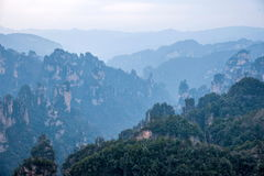 Hunan Zhangjiajie National Forest Park Daguantai mountains Royalty Free Stock Photography