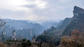 Hunan Zhangjiajie National Forest Park Daguantai mountains Royalty Free Stock Images