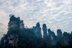 Hunan Zhangjiajie National Forest Park Jinbian Creek Shilihualang mountains Stock Images